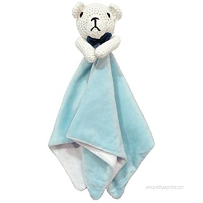 Cute New York Animal Rattle with Security Blanket (Blue Bear)