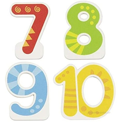 Goki - Interchangeable Numbers 7  8  9  10 Items for Birthday  Multi-Coloured (60713)