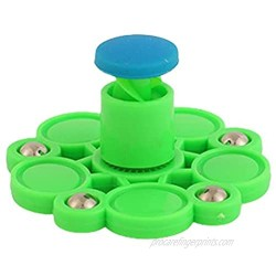 Antetek Spinning Tops  Hand Pat Press Spinning Top Decompression Toy Fingertip Finger Top Toy for Children and Adults Puzzle Toy Gift