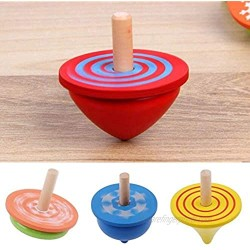 JPWL Kids Wood Gyro Toys for Children Adult Relief Stress Desktop Spinning Top Toys for Baby Kids Gifts