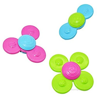 Suction Cup Spinning Top Toy Baby Sensory Toys Attractive Stress Relief Realse Stress Toy Early Learner Safe Interesting Table Sucker Spin Sucker Spinning Top Spinner Toy (Multicolor)