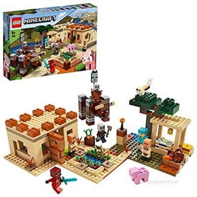 LEGO21160MinecraftTheIllagerRaidVillageBuildingSetwithRavagerandKai AdventureToysforKids
