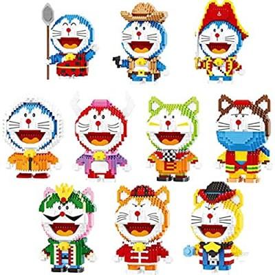 Doraemon Set Diamond Mini Building Block Bricks Assembly Model Educational Toys Collection Gifts (10 Pack)