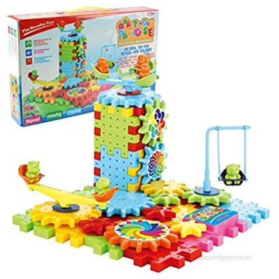 Oulian Electric Building Blocks Toys Kit 81 Piece Creative DIY Gear Building Blocks Toy Set Educational Toy Learning Blocks Motorized Spinning Gears Construction Toy Kids DIY Gift