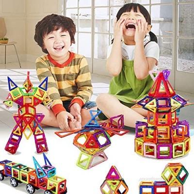 TGRBOP 3D Magnetic Building Blocks Tiles Set 188Pcs Kids Magnet Tiles Set Toys Building Construction 3D Building Block Educational Toy Gift For Boys Girls Gifts